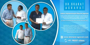 Dr. Bharat Agravat Received Advanced Training on All-on-Four® Dental Implants Concept From Dr. Robert Schroering, DMD (USA)
