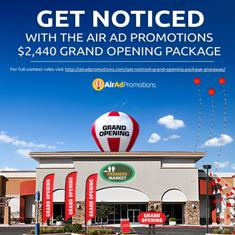Air Ad Promotions Announces Grand Opening Package Giveaway